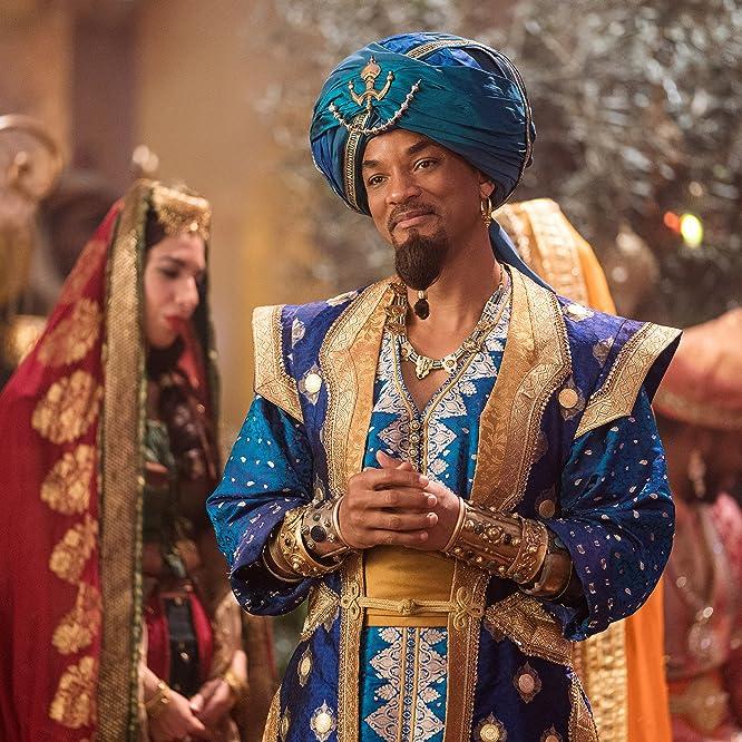 Will Smith and Nasim Pedrad in Aladdin (2019)