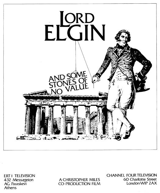 Lord Elgin and Some Stones of No Value (1986)