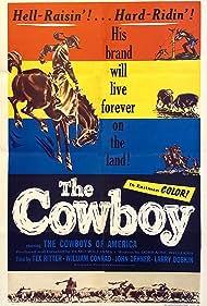 William Conrad, John Dehner, Lawrence Dobkin, Tex Ritter, and Elmo Williams in The Cowboy (1954)