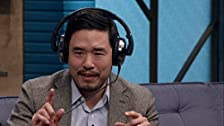 Randall Park Wears Brown Dress Shoes with Blue Socks