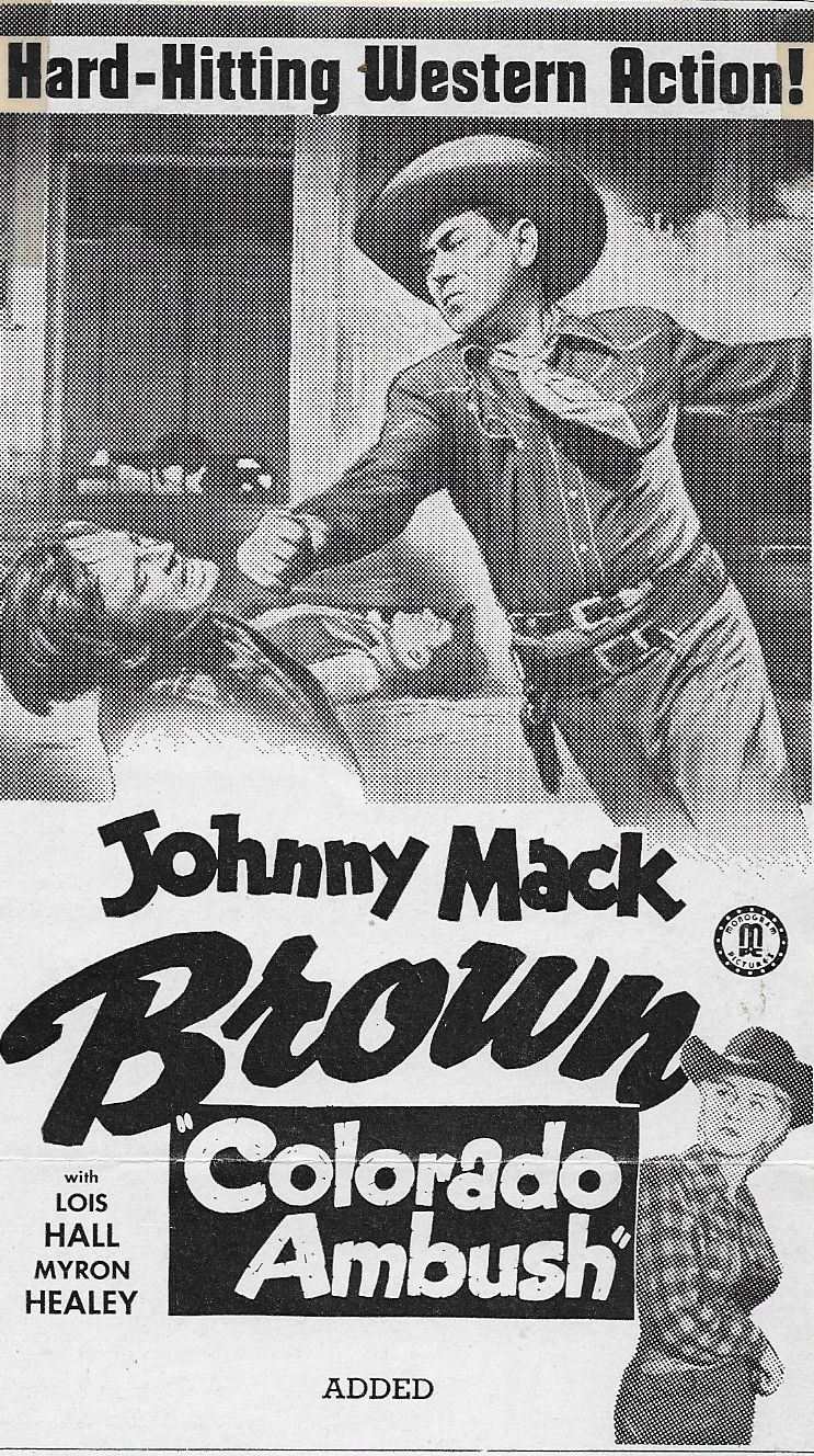 Johnny Mack Brown, Lois Hall, and Myron Healey in Colorado Ambush (1951)