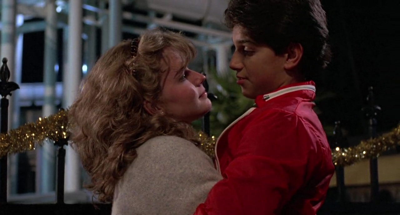 Elisabeth Shue and Ralph Macchio in The Karate Kid (1984)
