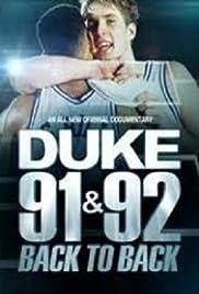 Duke 91 & 92: Back to Back Poster