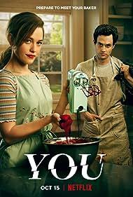 Penn Badgley and Victoria Pedretti in You (2018)