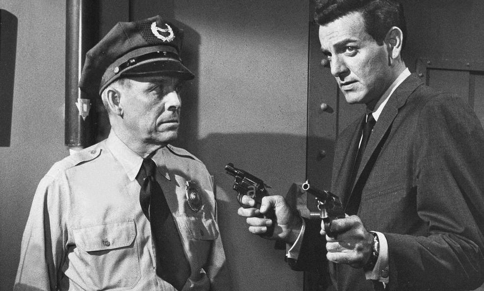 Mike Connors and Emerson Treacy in Tightrope (1959)