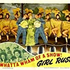 Virginia Belmont, Wally Brown, Alan Carney, Rita Corday, Daun Kennedy, Rosemary La Planche, Frances Langford, Suzanne Ridgway, and Elaine Riley in Girl Rush (1944)