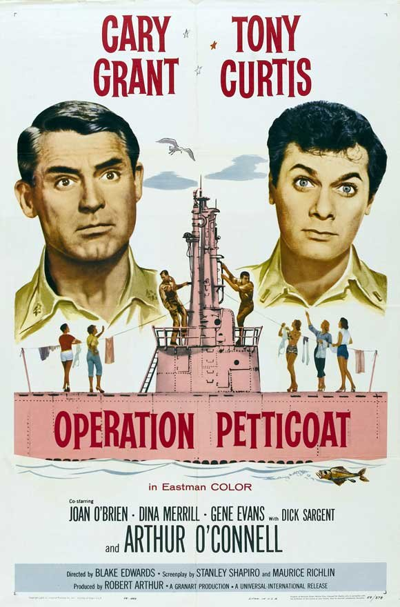 Cary Grant and Tony Curtis in Operation Petticoat (1959)