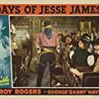 Roy Rogers, Don 'Red' Barry, George 'Gabby' Hayes, and Pauline Moore in Days of Jesse James (1939)