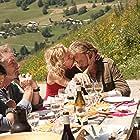 Johnny Hallyday, Sandrine Bonnaire, Eddy Mitchell, and Silvia Kahn in Salaud, on t'aime. (2014)