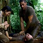 Matthew Fox, Dominic Monaghan, and Evangeline Lilly in Lost (2004)