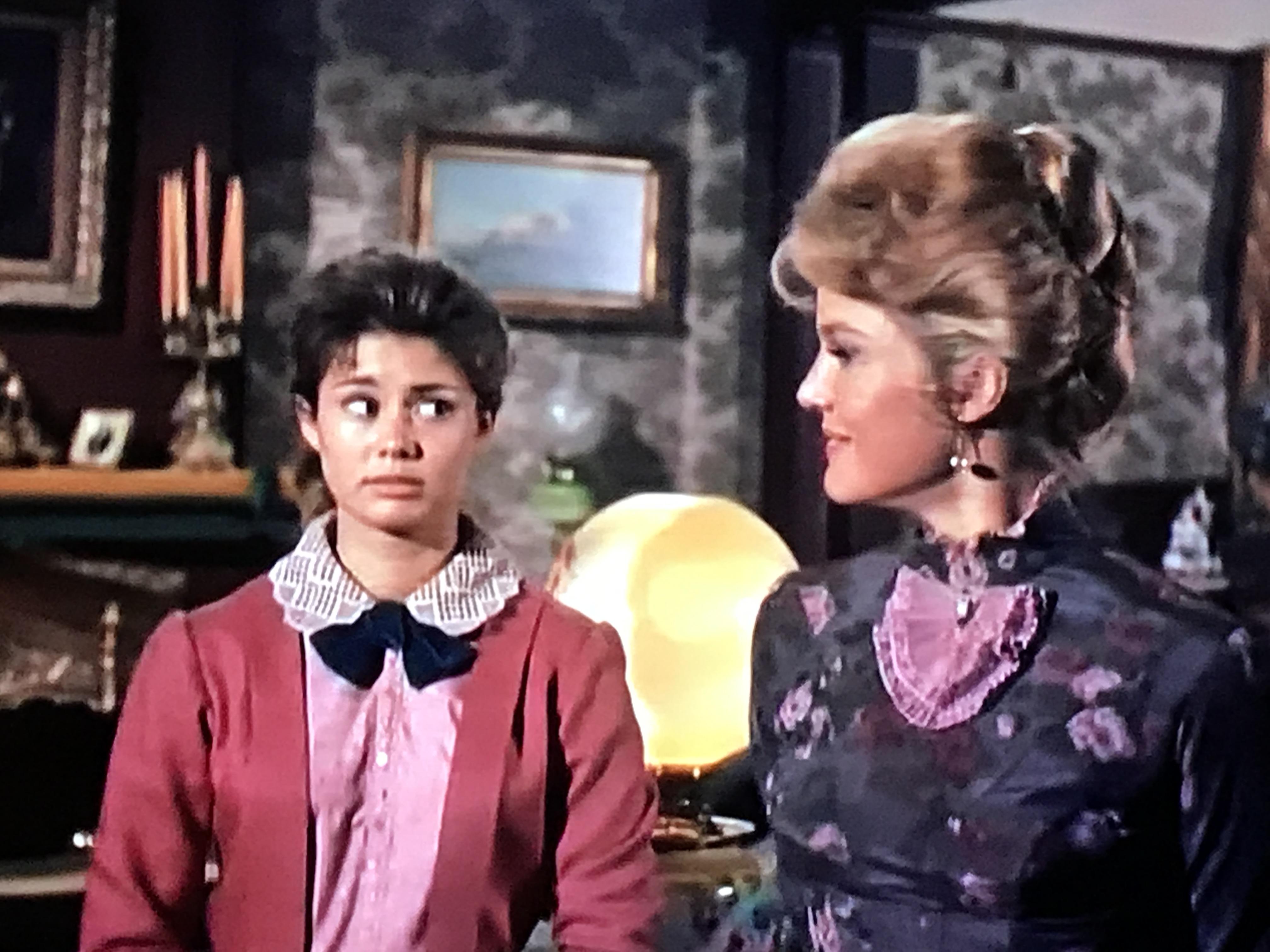 Pippa Scott and Roberta Shore in The Virginian (1962)