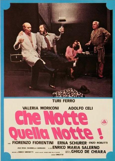 Adolfo Celi and Valeria Moriconi in Che notte quella notte! (1977)