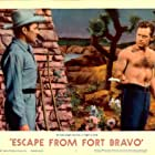 William Holden and John Forsythe in Escape from Fort Bravo (1953)