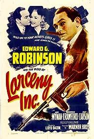 Edward G. Robinson and Jane Wyman in Larceny, Inc (1942)