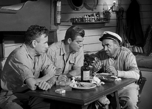 John Bromfield, Nestor Paiva, and Robert B. Williams in Revenge of the Creature (1955)
