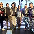 Farhan Akhtar, Vishal Dadlani, and Shraddha Kapoor in Rock On 2 (2016)