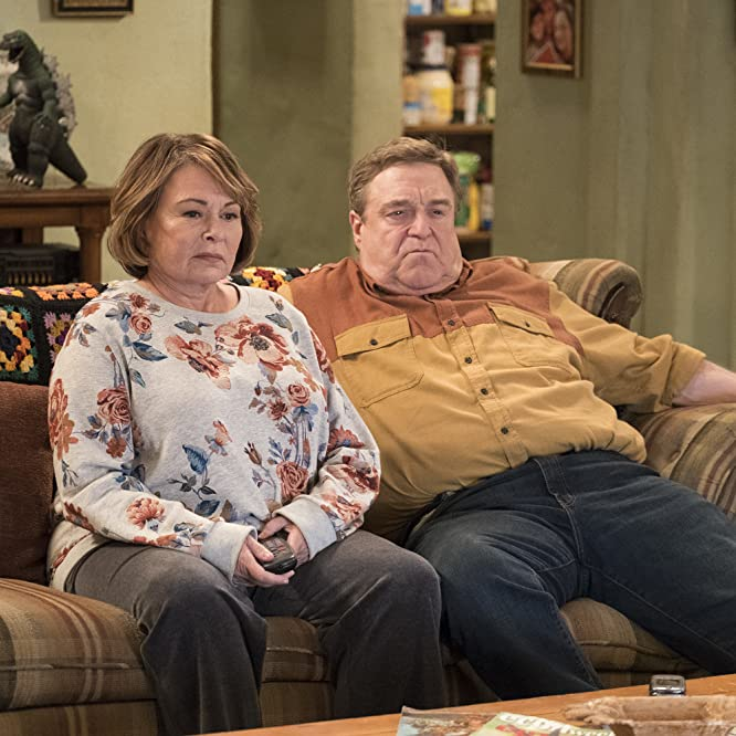 John Goodman and Roseanne Barr in Roseanne (1988)