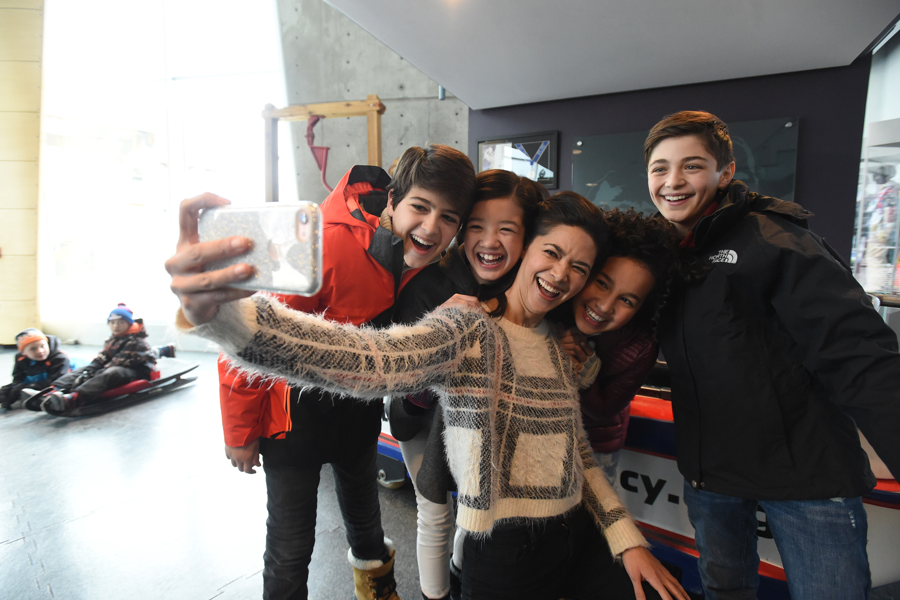 Joshua Rush, Lilan Bowden, Asher Angel, Peyton Elizabeth Lee, and Sofia Wylie at an event for Andi Mack (2017)