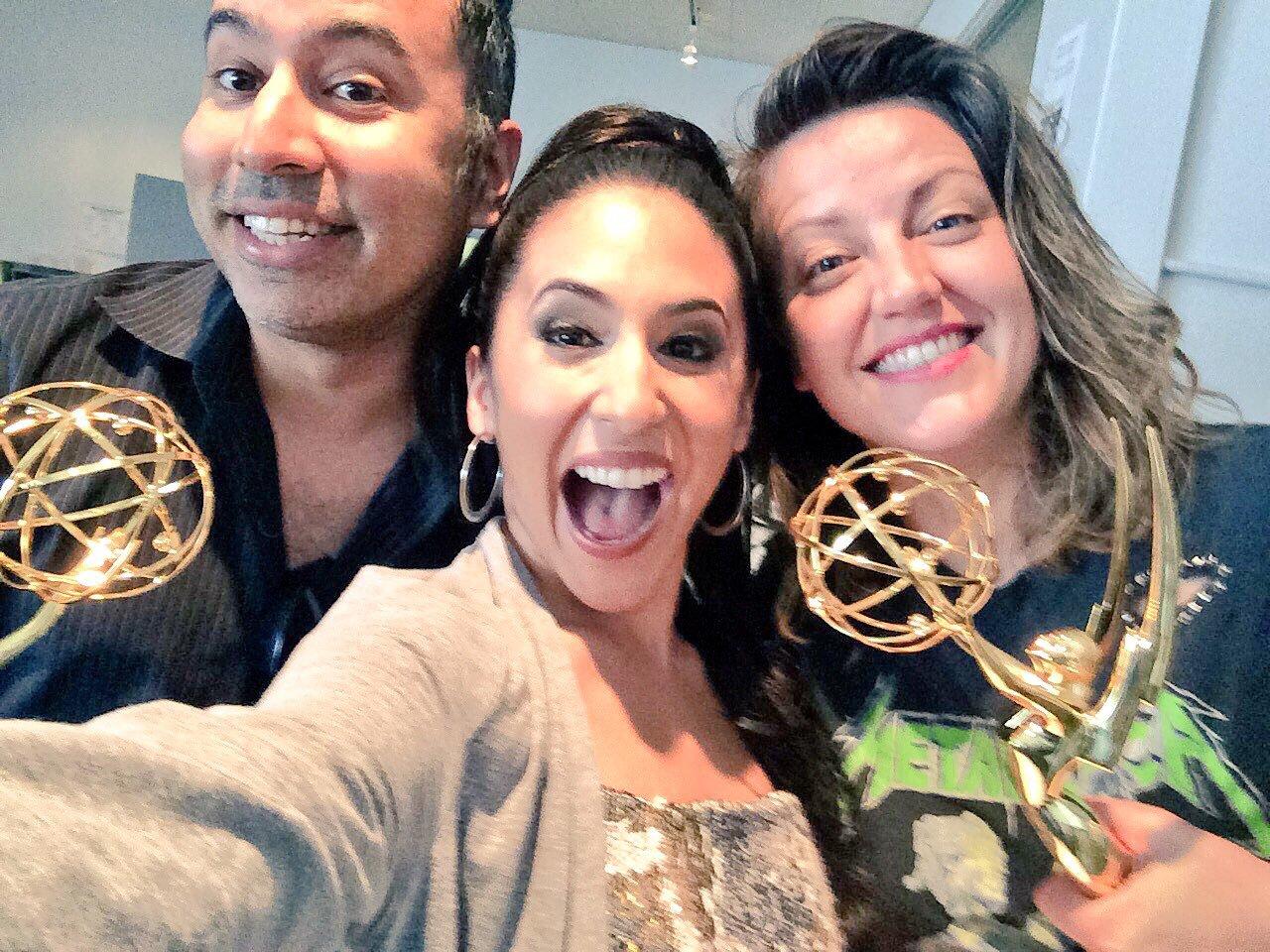 Kabir Akhtar, Kathryn Burns, and Gabrielle Ruiz in Crazy Ex-Girlfriend (2015)