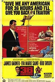 James Garner, Eva Marie Saint, and Rod Taylor in 36 Hours (1964)