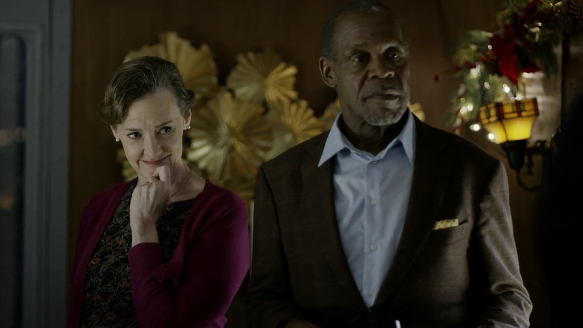 Joan Cusack and Danny Glover in The Christmas Train (2017)