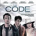 Lucy Lawless, Dan Spielman, and Ashley Zukerman in The Code (2014)