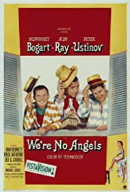 Humphrey Bogart, Joan Bennett, Peter Ustinov, and Aldo Ray in We're No Angels (1955)