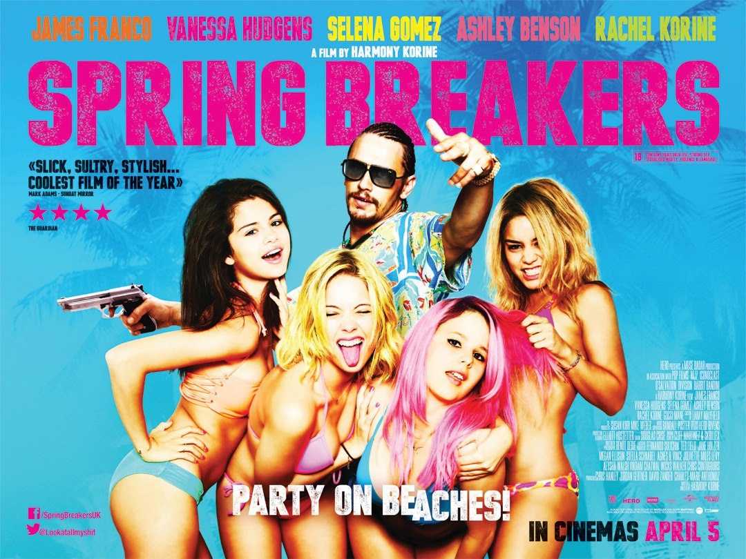 James Franco, Vanessa Hudgens, Selena Gomez, Ashley Benson, and Rachel Korine in Spring Breakers (2012)