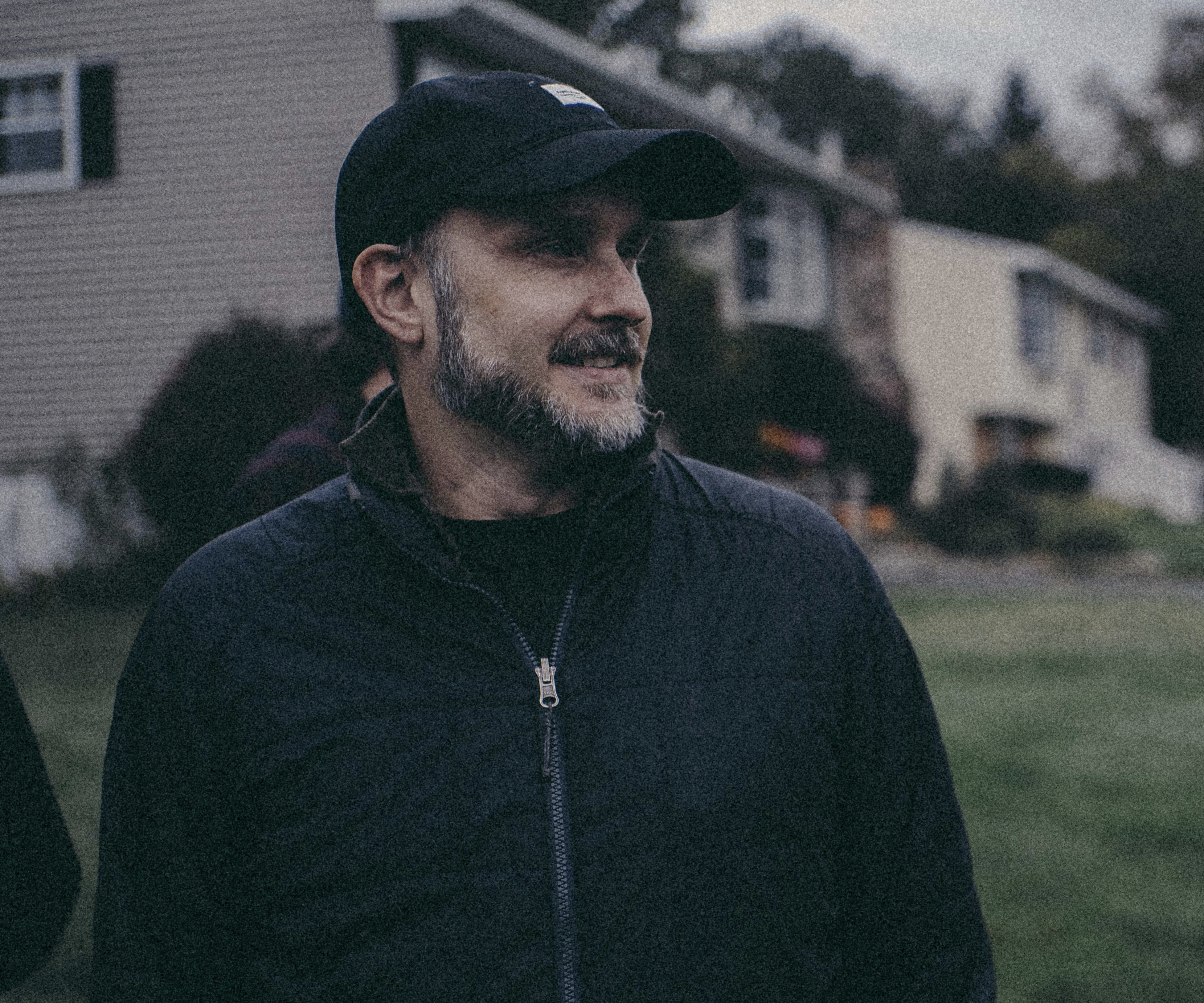 Director Stephen Kijak on the set of Shoplifters of the World