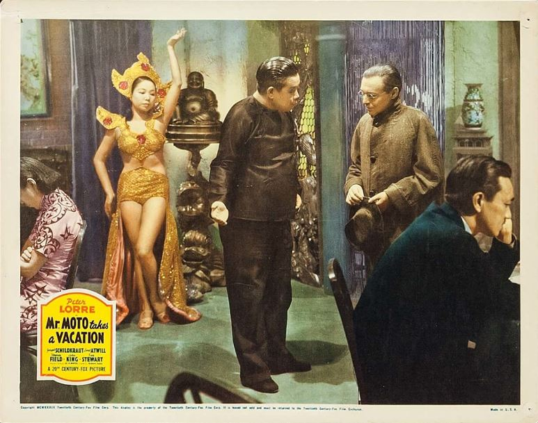 Peter Lorre and Iris Wong in Mr. Moto Takes a Vacation (1939)