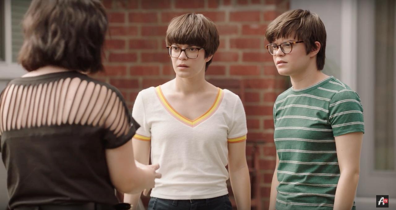 Tenea Intriago, Emily Hinkler, and Elizabeth Hinkler in Overthinking With Kat & June