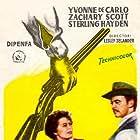 Yvonne De Carlo and Zachary Scott in Shotgun (1955)