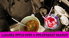 Lasagna Style Soup w/ Strawberry Parfait