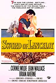 Brian Aherne, Cornel Wilde, and Jean Wallace in Lancelot and Guinevere (1963)