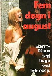 Fem døgn i august Poster