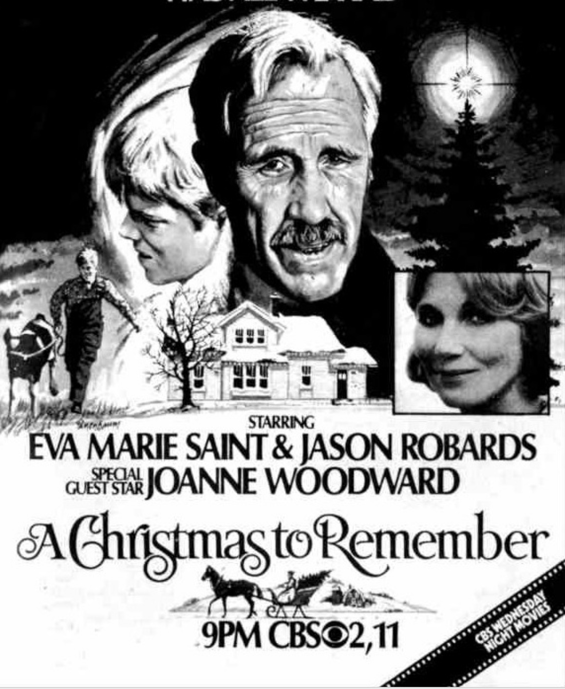 Jason Robards and Eva Marie Saint in A Christmas to Remember (1978)