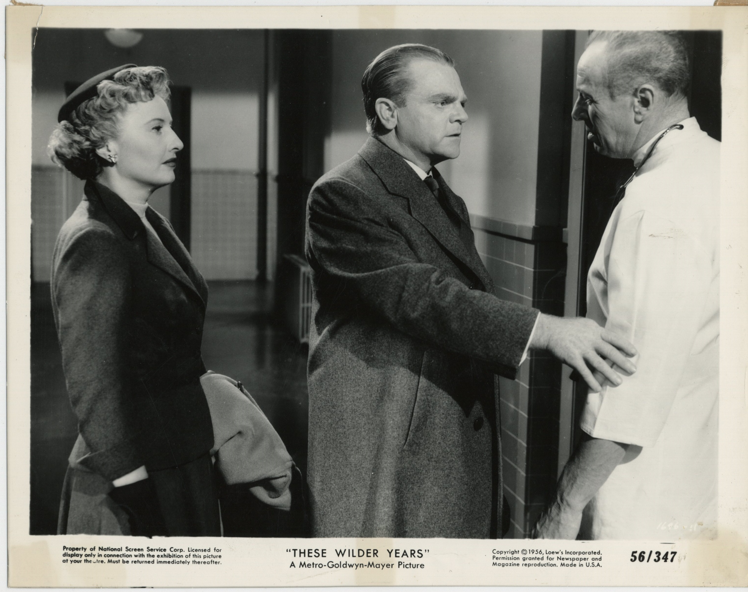 James Cagney and Barbara Stanwyck in These Wilder Years (1956)