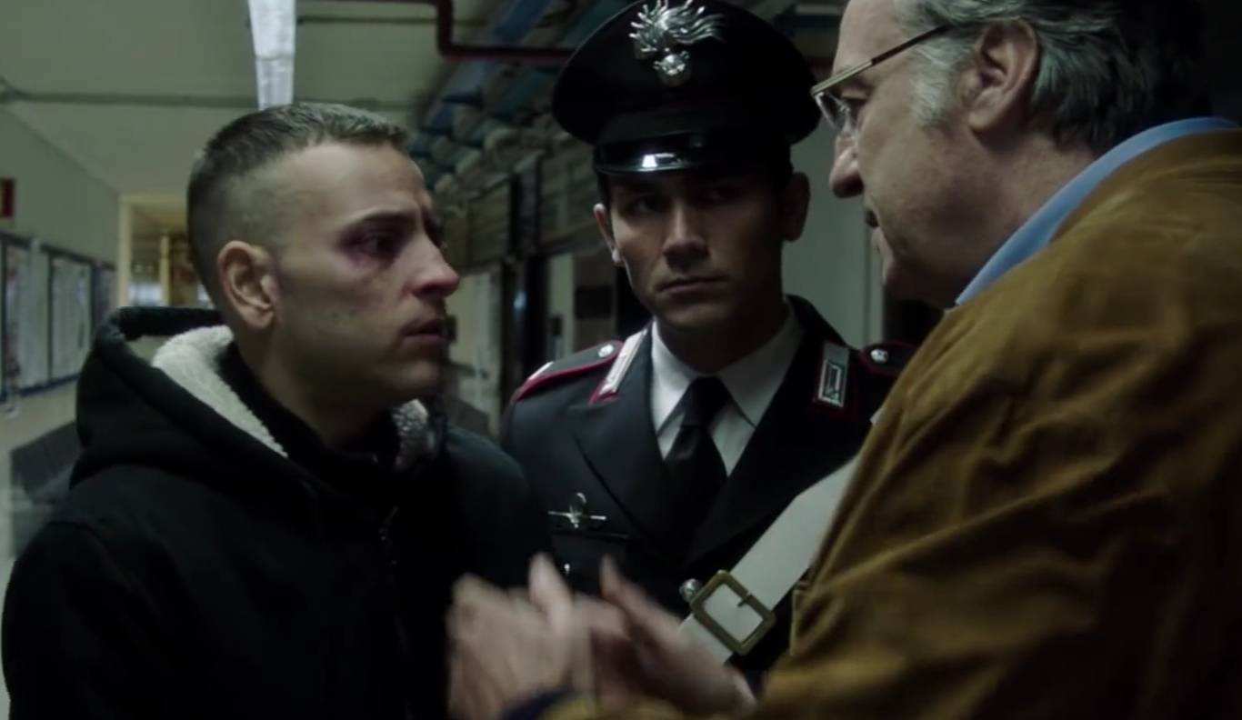 Massimiliano Tortora, Alessandro Borghi, and Walter Nestola in Sulla mia pelle (2018)