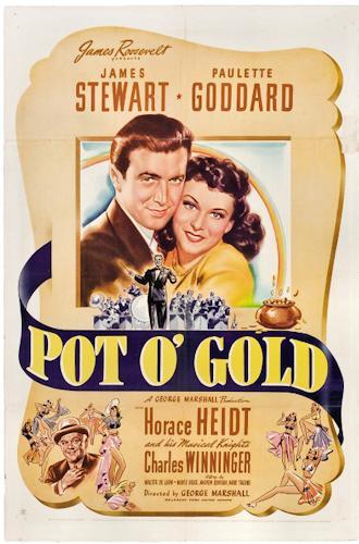 James Stewart, Paulette Goddard, and Charles Winninger in Pot o' Gold (1941)
