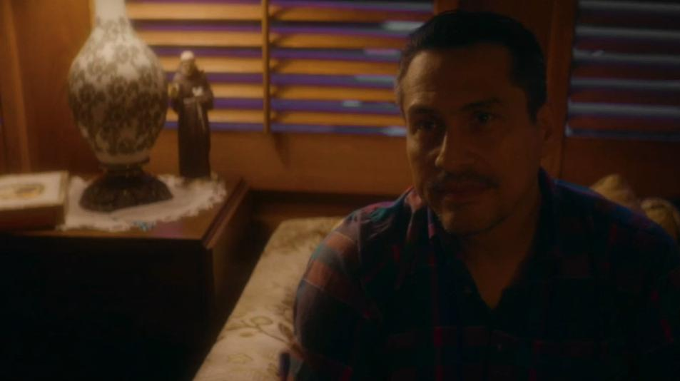 "Demi Castro as ""Middle Man"" in ARKANSAS - directed by Clark Duke."