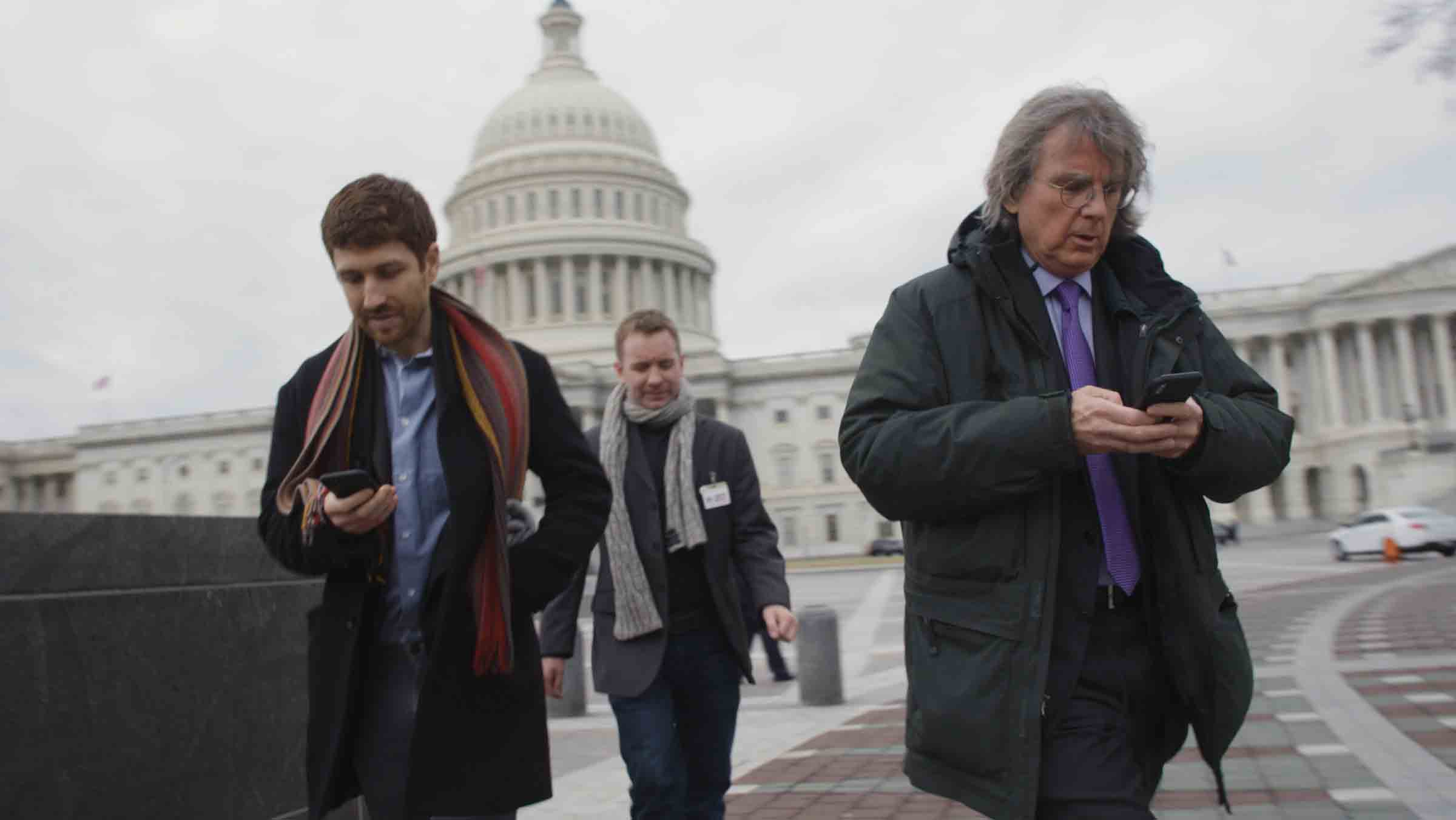 Roger McNamee and Tristan Harris in The Social Dilemma (2020)