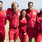 Traci Bingham, Galen Gering, Rosa Blasi, Keegan Allen, and Brant Daugherty at an event for Battle of the Network Stars (2017)