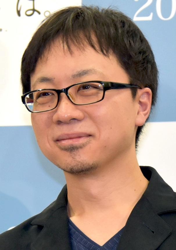 Makoto Shinkai at an event for Kimi no na wa. (2016)