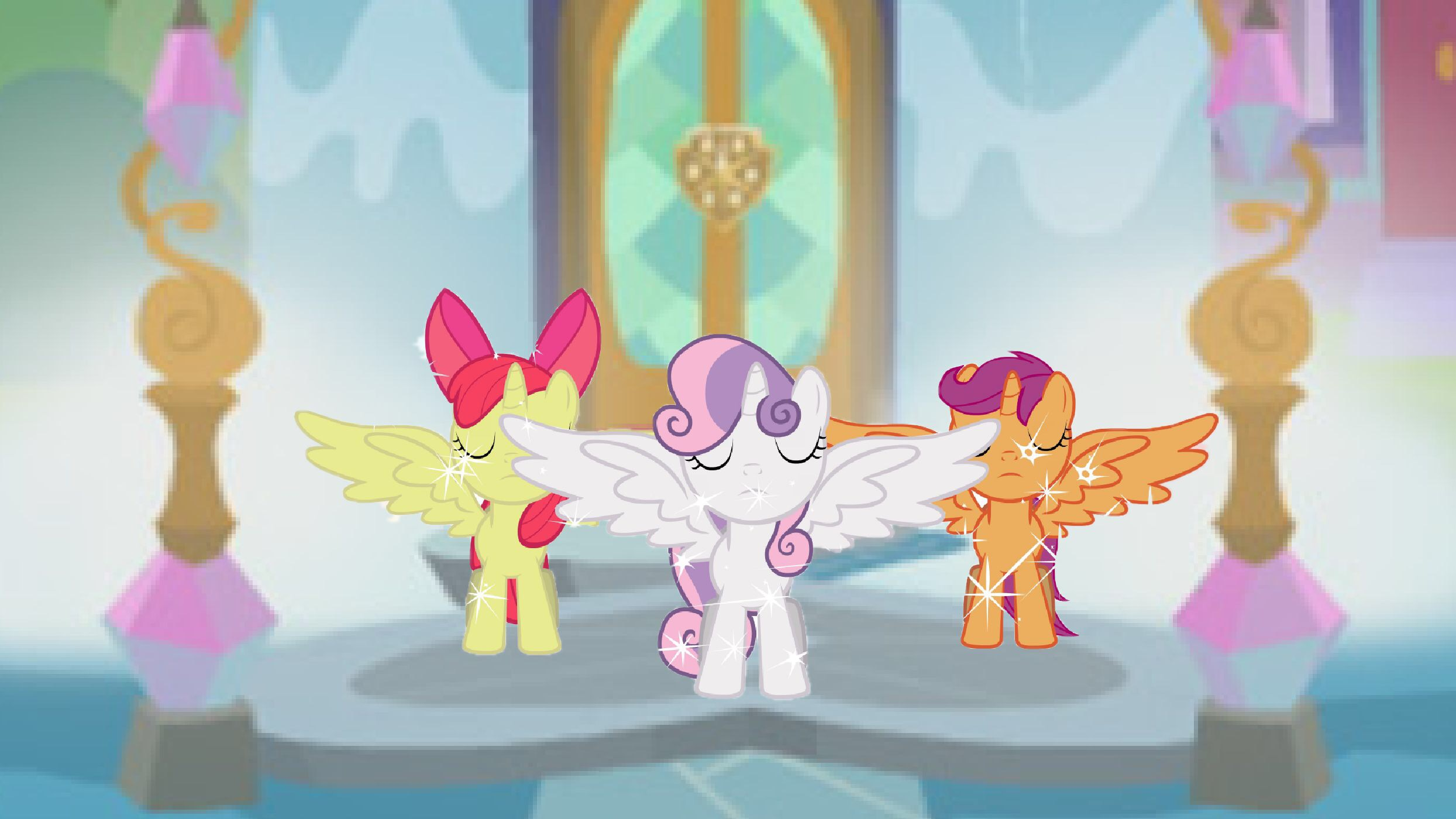Claire Margaret Corlett, Michelle Creber, and Madeleine Peters at an event for My Little Pony: Friendship Is Magic (2010)