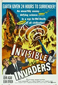 John Agar, John Carradine, Jean Byron, Robert Hutton, and Philip Tonge in Invisible Invaders (1959)