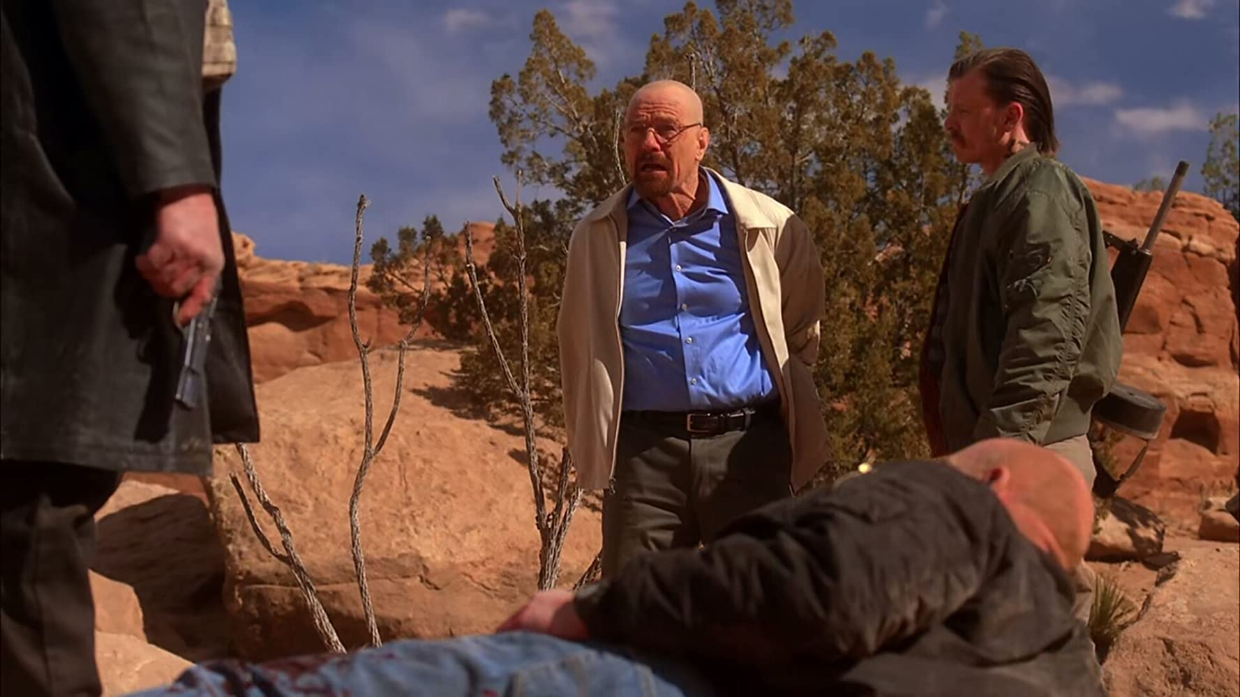 Michael Bowen, Bryan Cranston, and Dean Norris in Breaking Bad (2008)