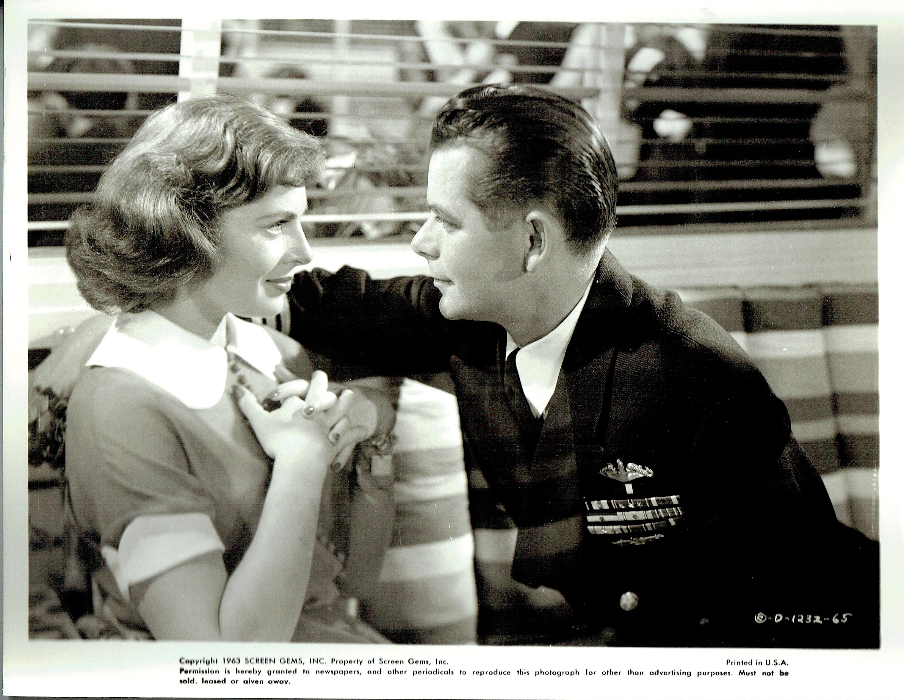 Glenn Ford and Viveca Lindfors in The Flying Missile (1950)