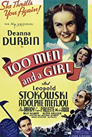 Deanna Durbin, Alice Brady, Adolphe Menjou, and Leopold Stokowski in One Hundred Men and a Girl (1937)