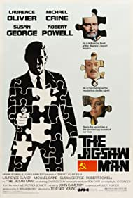 Laurence Olivier, Michael Caine, Susan George, and Anthony Dawson in The Jigsaw Man (1983)