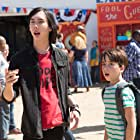 Charlie Wright and Jason Drucker in Diary of a Wimpy Kid: The Long Haul (2017)
